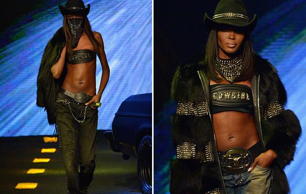 Naomi Campbell Flaunts Killer Abs at Milan Fashion Week