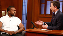 "Kanye West Talks Kid-Friendly Songs, Raps Greatest Hits on ""Late Night"""