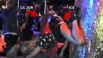 Lil Jon Dumps Ice On Twerker -- This Girl's Ass Is On Fire!!! [VIDEO]