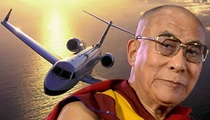 Dalai Lama -- How To Guilt A Jet Company Into a Freebie
