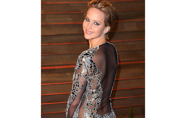 Jennifer Lawrence Goes Commando at Vanity Fair Oscars Party