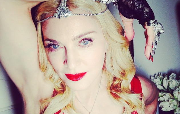 Madonna Wears 1,000 Carats of Diamonds to Oscars After Party!