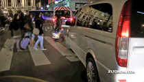 Rihanna Nearly Hits Paris Pedestrians -- We Gonna Run This Town ... Over [VIDEO]