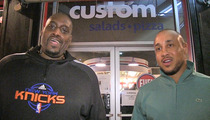 John Starks & Anthony Mason -- Our Pizza Joint ... IS OPEN FOR BUSINESS!!