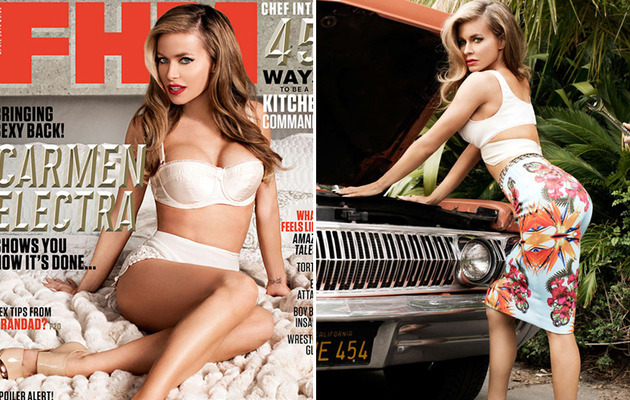 Carmen Electra Covers FHM Magazine in Lingerie, Says She's in a Good Place!