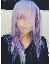 Ireland Baldwin Dyes Her Hair Purple -- Like