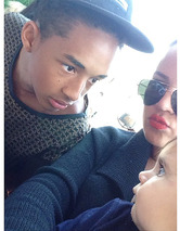 Jaden Smith & Penelope Disick Have a Staring Contest -- See the Cute Pic!