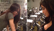 Kim Kardashian Shows Major Cleavage at Spin Class -- See the Vine Video!