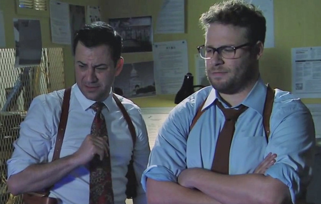 "Watch Seth Rogen & Jimmy Kimmel Spoof ""True Detective"" Season 2!"