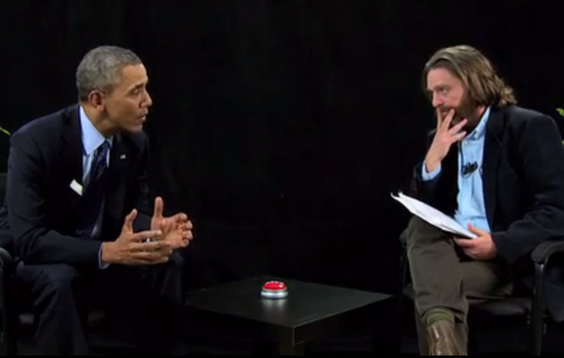 "President Obama & Zach Galifianakis Trade Jabs in ""Between Two Ferns"""