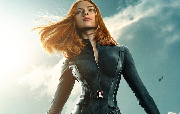 """ScarJo Hounded By Motherhood Questions at """"Captain America"""" Press Conference"""