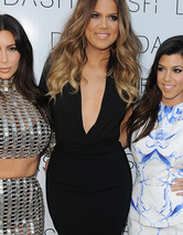 Kim Kardashian Upstages Sisters In See-Through Chainmail Dress