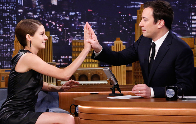 Shailene Woodley Brings Jimmy Fallon a Phallic Root -- See His Reaction!