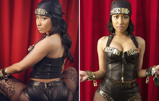 "Nicki Minaj Rocks Leather Bustier, Booty Shorts in ""Seline"" Music Video"