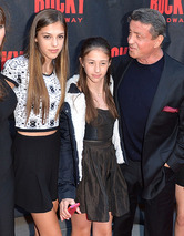 Sylvester Stallone Steps Out With His Three Gorgeous Daughters!