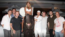 Kellan Lutz -- Celebrates Bday with 1 Hot Chick on an Elephant ... and a Bunch of Dudes
