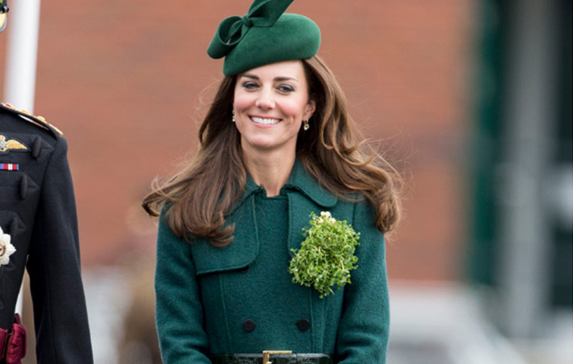 Kate Middleton Celebrates St. Patrick's Day In Green