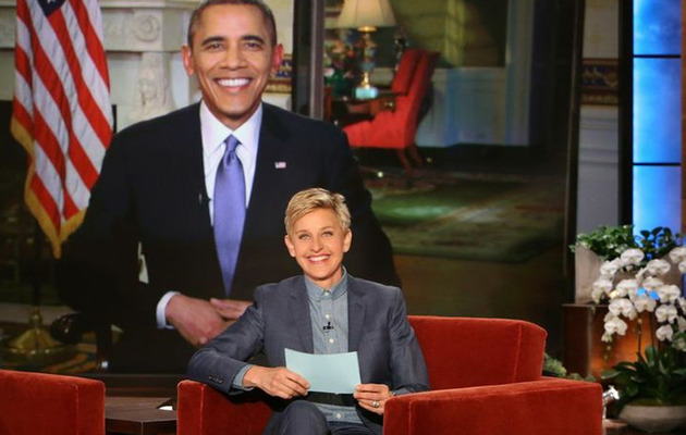 "President Obama Chats With Ellen About Tattoos & ""House of Cards"""