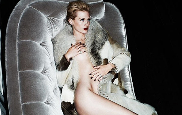 """Mad Men"" Star January Jones Goes Nude, Talks Plastic Surgery"