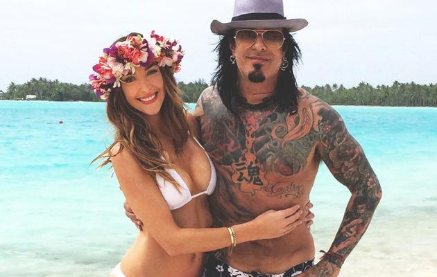 Nikki Sixx & Courtney Bingham's Tropical Honeymoon -- See the Sexy Pics!