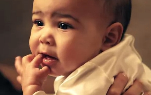 Awww! North West Pops Up At Kim Kardashian's Vogue Shoot