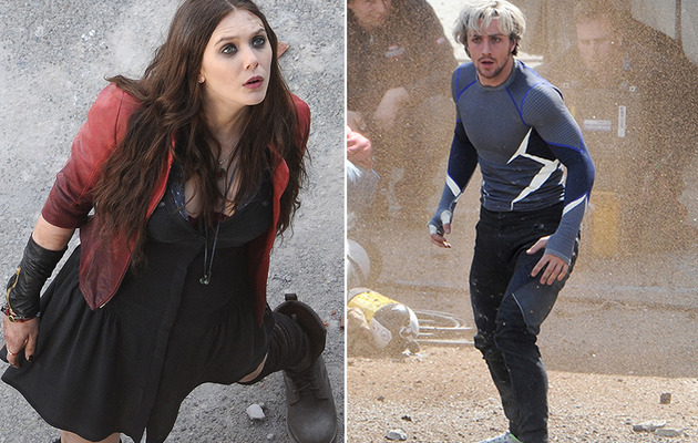 "See Scarlet Witch, Quicksilver & Hawkeye on the Set of ""Avengers: Age of Ultron"""