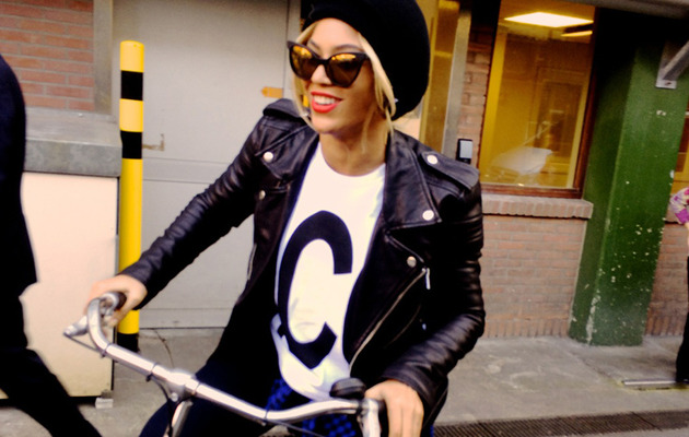 Beyonce Rides Bike Around Amsterdam with Daughter Blue Ivy