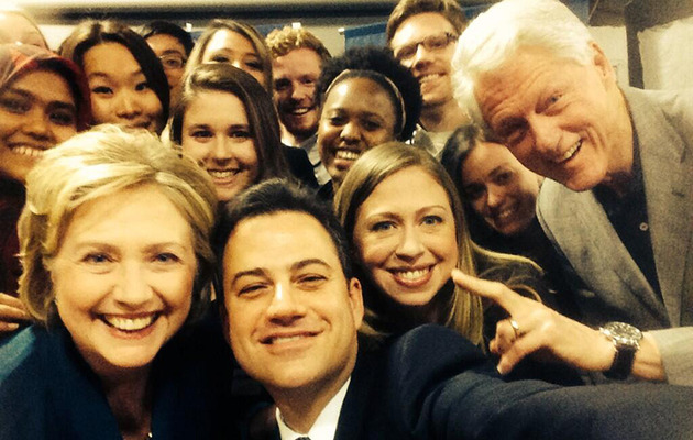 Jimmy Kimmel Posts Awesome Selfie With The Clinton Family -- See The Pic!
