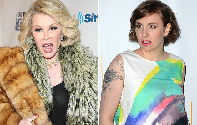 "Joan Rivers Blasts Lena Dunham's Weight: She's Saying ""Stay Fat, Get Diabetes, Everybody…"
