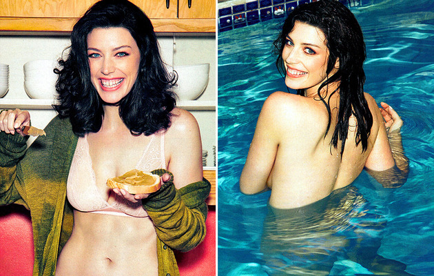 """Mad Men"" Star Jessica Paré Goes Skinny Dipping in Esquire -- See the Sexy Pics!"