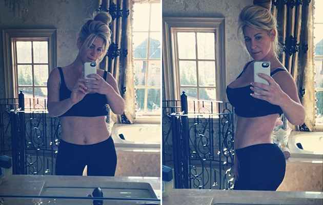 Kim Zolciak Slams Critics, Shows Post-Baby Bod From The Front!