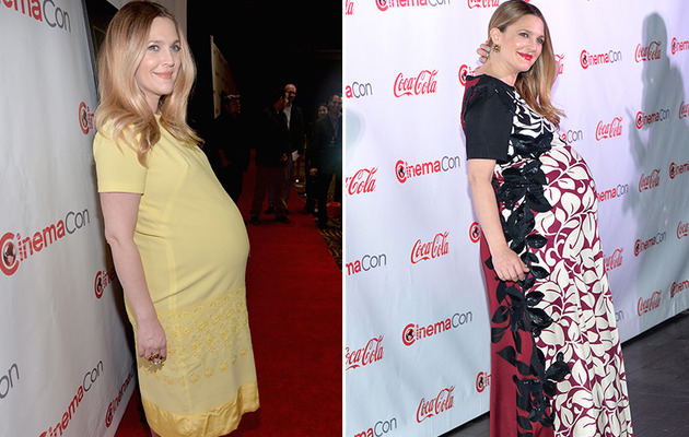 Drew Barrymore Flaunts Big Baby Bump at CinemaCon!