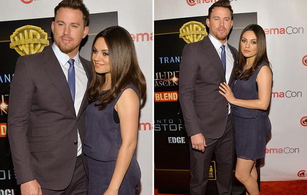 Mila Kunis Debuts Tiny Baby Bump on Red Carpet
