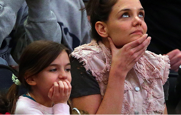 Katie Holmes Makes Rare Public Appearance with Look-Alike Daughter Suri