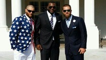 Jonny Gomes -- ROCKS ULTIMATE USA JACKET ... During White House Visit