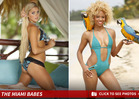 Miami Dolphins Cheerleaders -- BIKINI WARFARE ... Squad Battles It Out in Caribbean