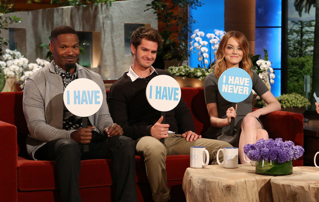 "Andrew Garfield & Emma Stone Grilled on Relationship, Play ""Never Have I Ever"""