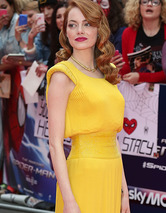 "Emma Stone Dazzles at ""Amazing Spider-Man 2"" Lo"