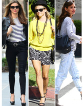 Celebrity Street Style -- How