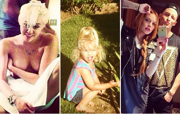 Miley, Lindsay & More -- See This Week's Best Celebrity TwitPics!