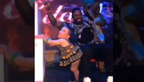 NFL Star Antonio Cromartie -- Lap Dance from 'Mini Rihanna' ... at Insane Bday Bash