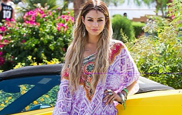 Vanessa Hudgens Debuts Long Blonde 'Do At Coachella!
