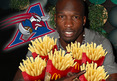 Chad Johnson -- Celebrating CFL Deal with Fast Food and Stogies