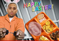 Chris Brown -- Easter Feast Behind Bars