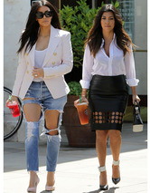 Kim & Kourtney Kardashian Rock Cutout Trend -- Who Wore it Better?