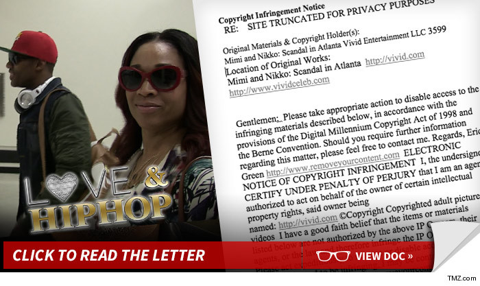 Mimi Faust Sex Tape ... Most Pirated Porno of All Time -- 'Love & Hip Hop'