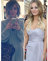 Kaley Cuoco Chops Her Hair -- Fo