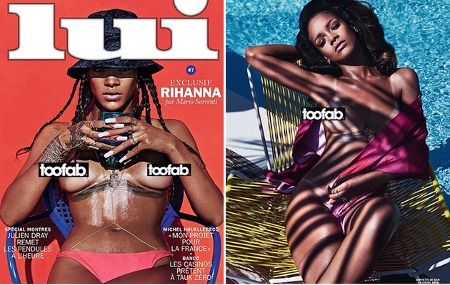 Rihanna Poses Topless In Lui Magazine -- See the Revealing Pics!