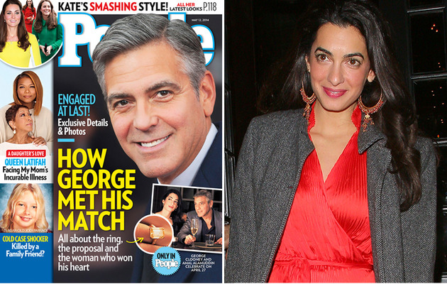 See Amal Alamuddin's Stunning Engagement Ring from George Clooney!