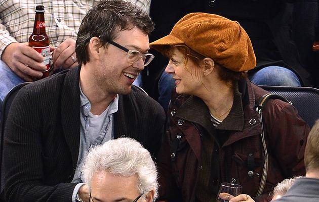 Susan Sarandon, 67, Cozies Up with Jonathan Bricklin, 36, at Hockey Game